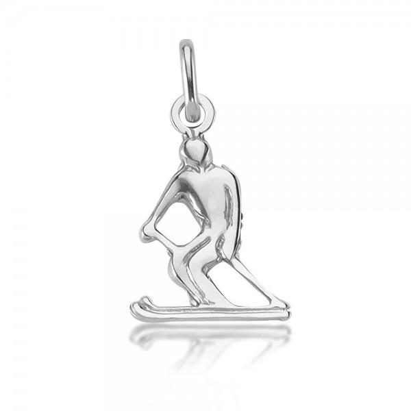 Anhänger Skifahrer 925 Sterling Silber